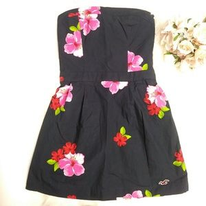 Hollister Floral Strapless Mini Dress